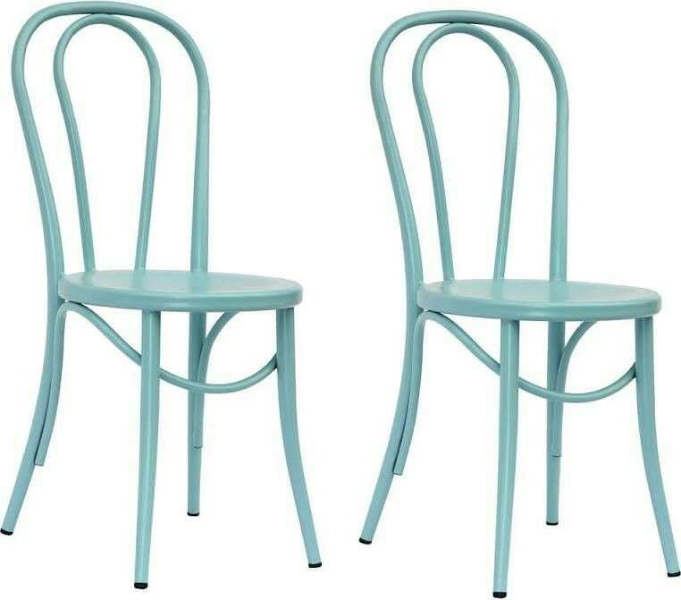 Emery Metal Bistro Chair   Ancient Aqua (Set Of 2)   Threshold At Target
