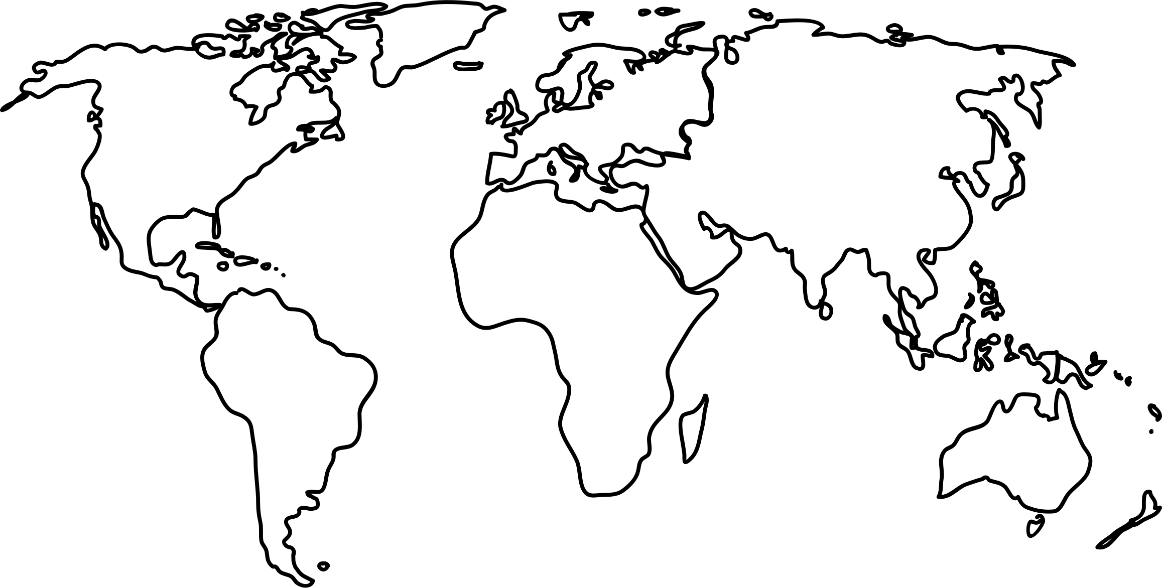 Line Art Map : World map by jkarthik outline on