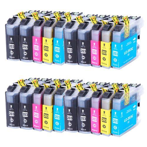 20pk LC203XL LC-203XL Ink Set For Brother LC201 MFC-J460dw MFC-J480dw MFC-J485dw