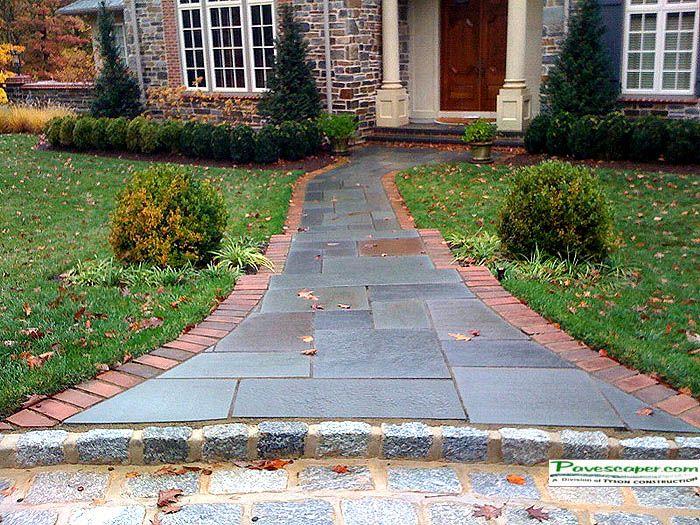 Slate Walkway Patterns | Pavers Stone Patio Contractors PA, Paver Stone  Walkways Installers .