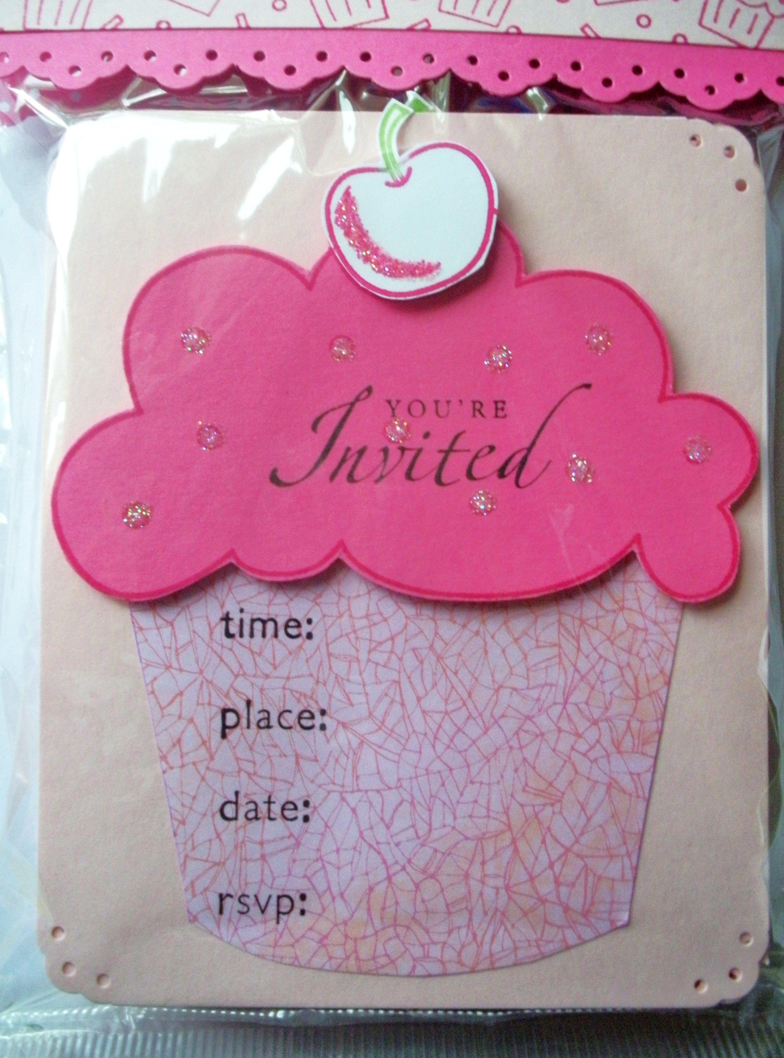 Cupcake Invitations   Wedding