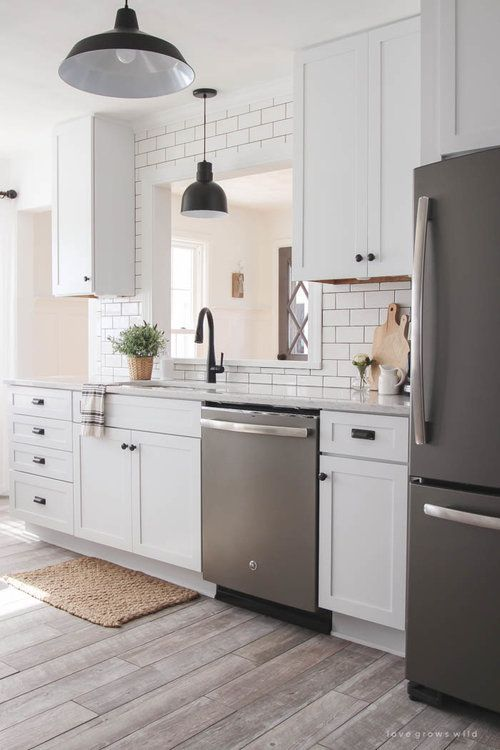 Slate Appliance White Cabinet Dark Counter Slate Kitchen Slate Appliances Kitchen Slate Appliances White Cabinets