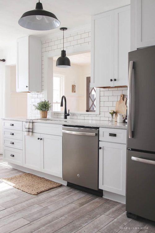 The Low Down On Slate Appliances White Kitchen Decor White