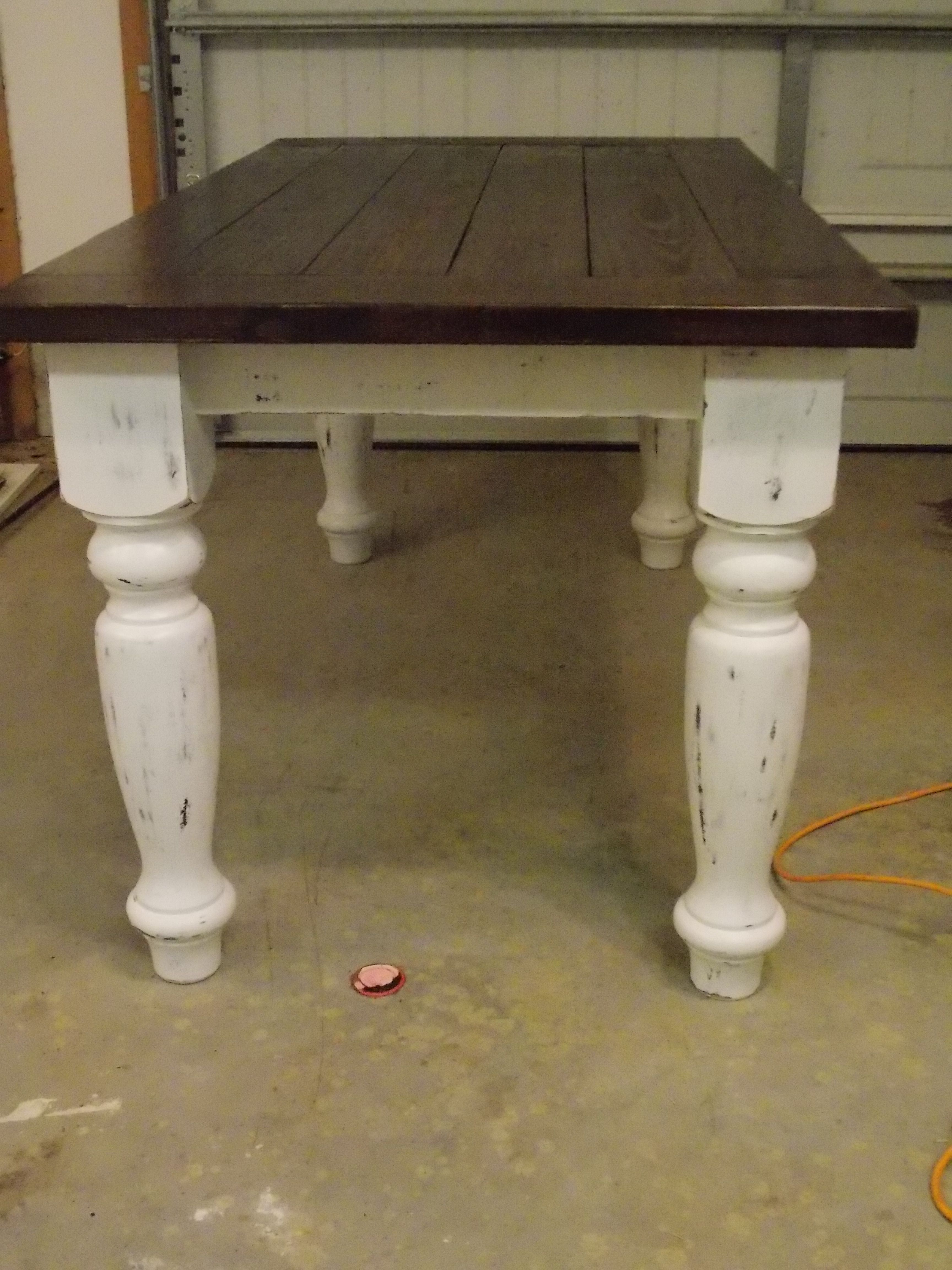 Kitchen Table Legs Swivel Chairs Rustic Farmhouse Plans Turned Leg For
