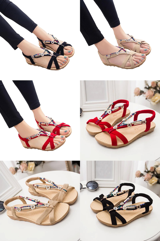 Women's Summer Shoes Peep-toe Low Shoes Roman Sandals Ladies Flip Flops 35-39