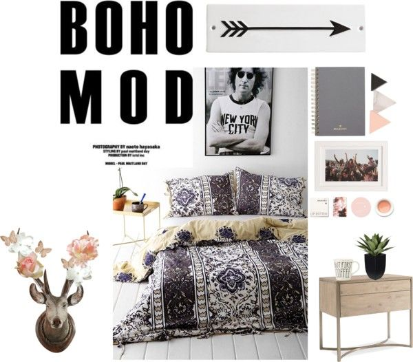 """Boho Bedroom Inspirations"" by wildfloweers on Polyvore"