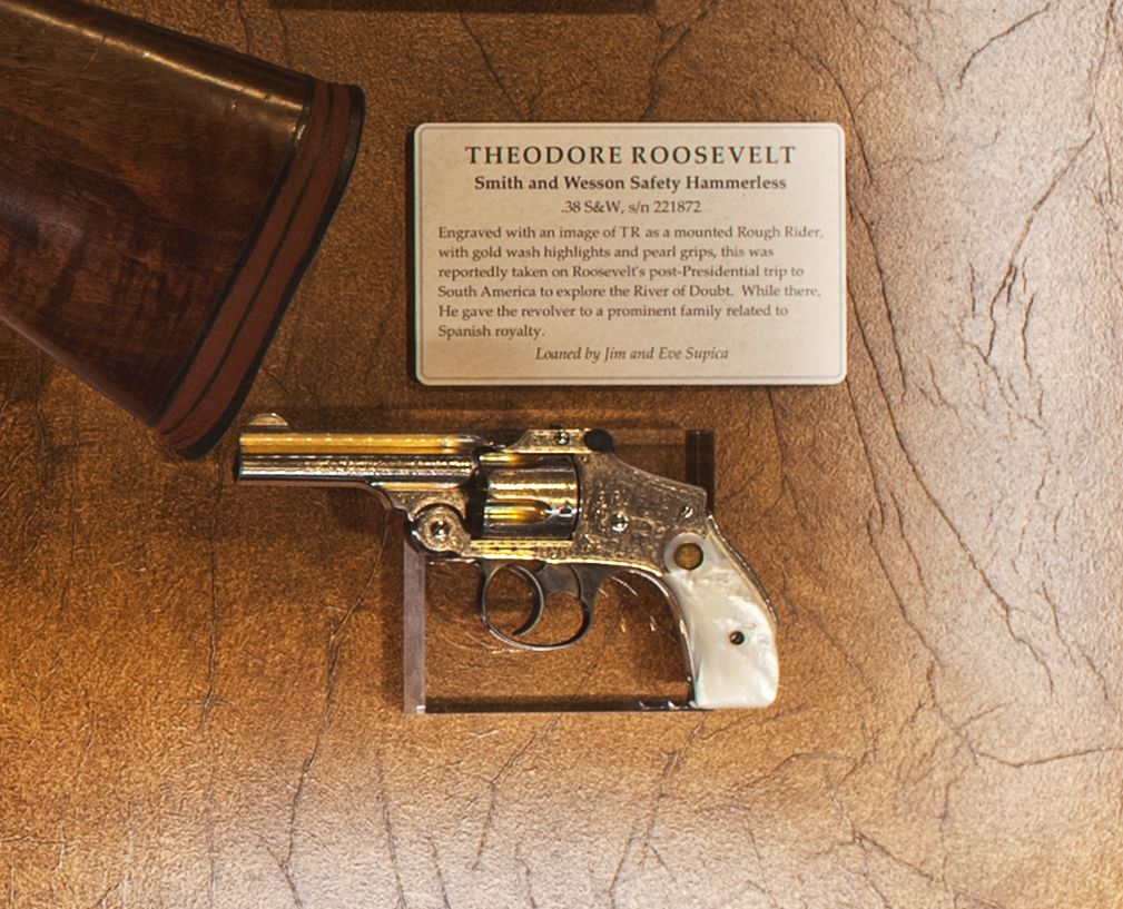 Teddy roosevelt guns to be displayed at nra national - Teddy Roosevelt S Smith Wesson 38 Safety Hammerless This Lemon Squeezer Is