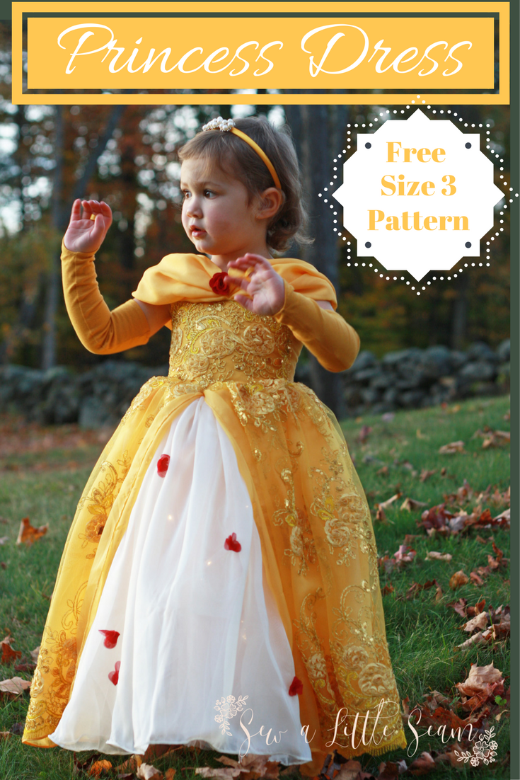 Free Princess Dress Pattern & Tutorial | Verkleiden, Nähprojekte und ...