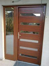 Modern Wooden Front Door – Building Materials- Modern fa bej…