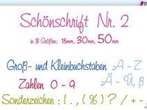 Stickdatei ABC Schönschrift Nr-2 ♥ Stickmuster