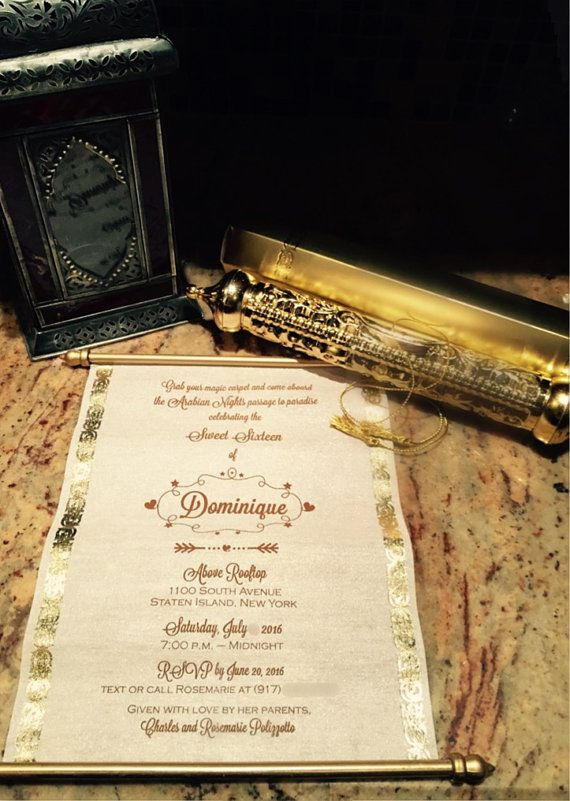 Scroll Invitation by InvitationBoutiqueNY on Etsy