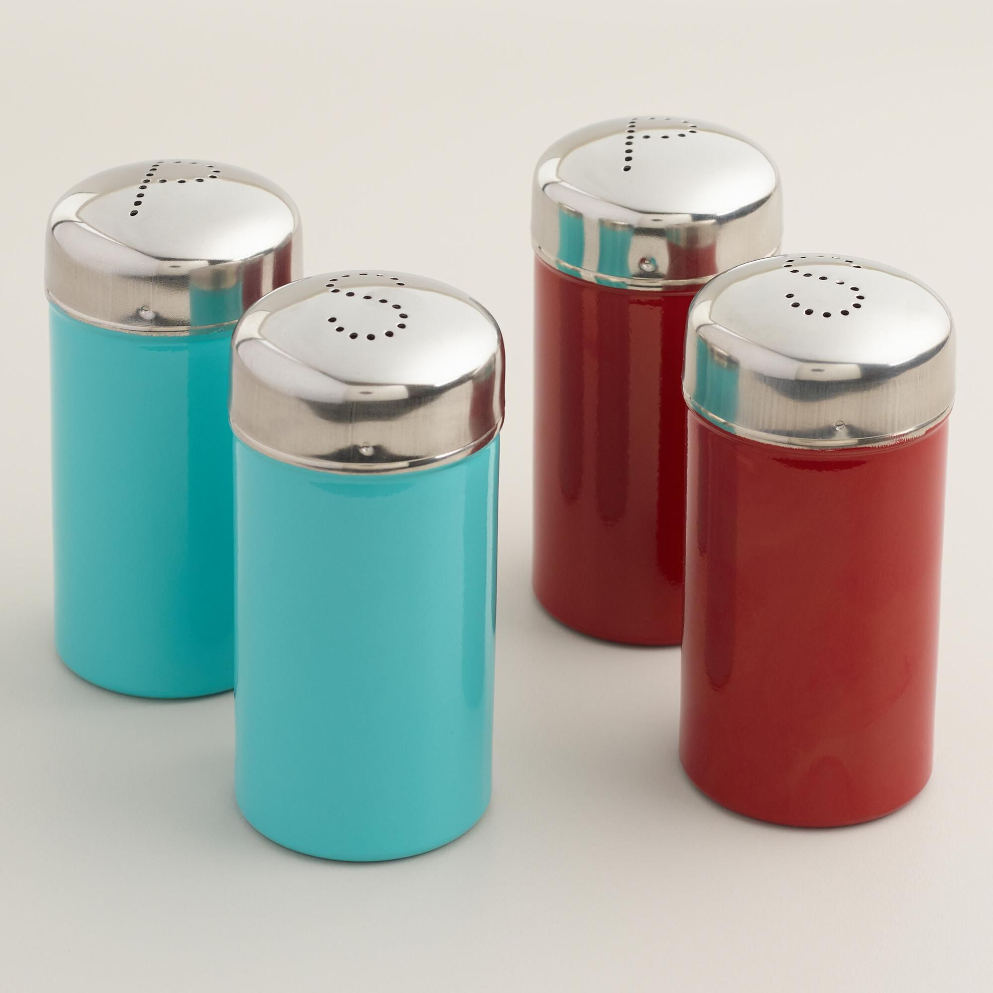 Stainless Steel Salt and Pepper Shakers, Set of 2 | Steel, Kitchens ...