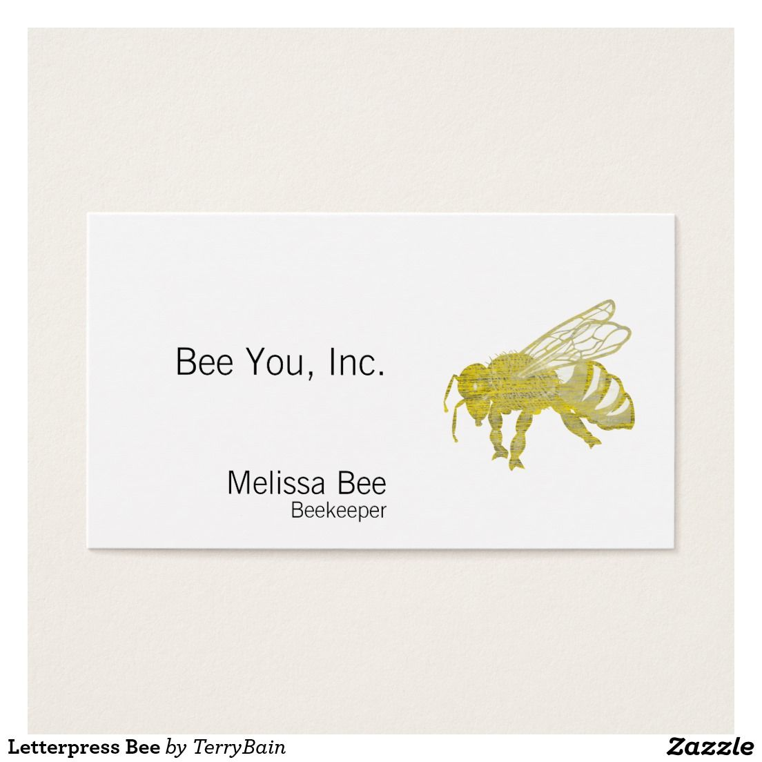 Letterpress Bee Business Card | Letterpresses