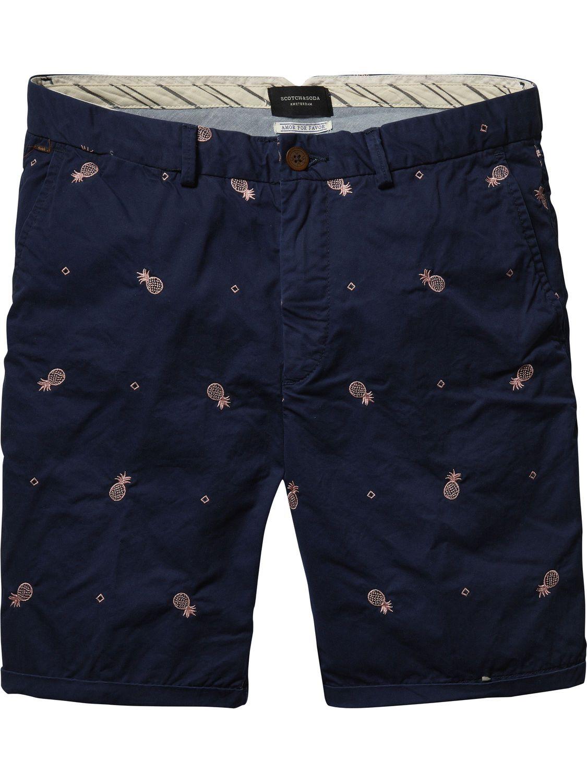 Embroidered Chino Shorts |Short pants|Men Clothing at ...