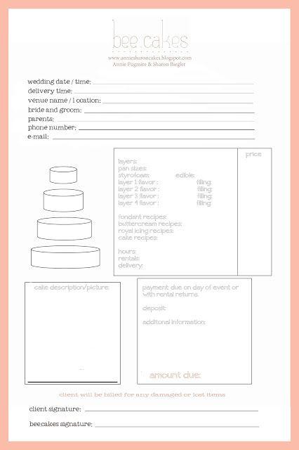 bakery order form template software free invoice cake on. Black Bedroom Furniture Sets. Home Design Ideas