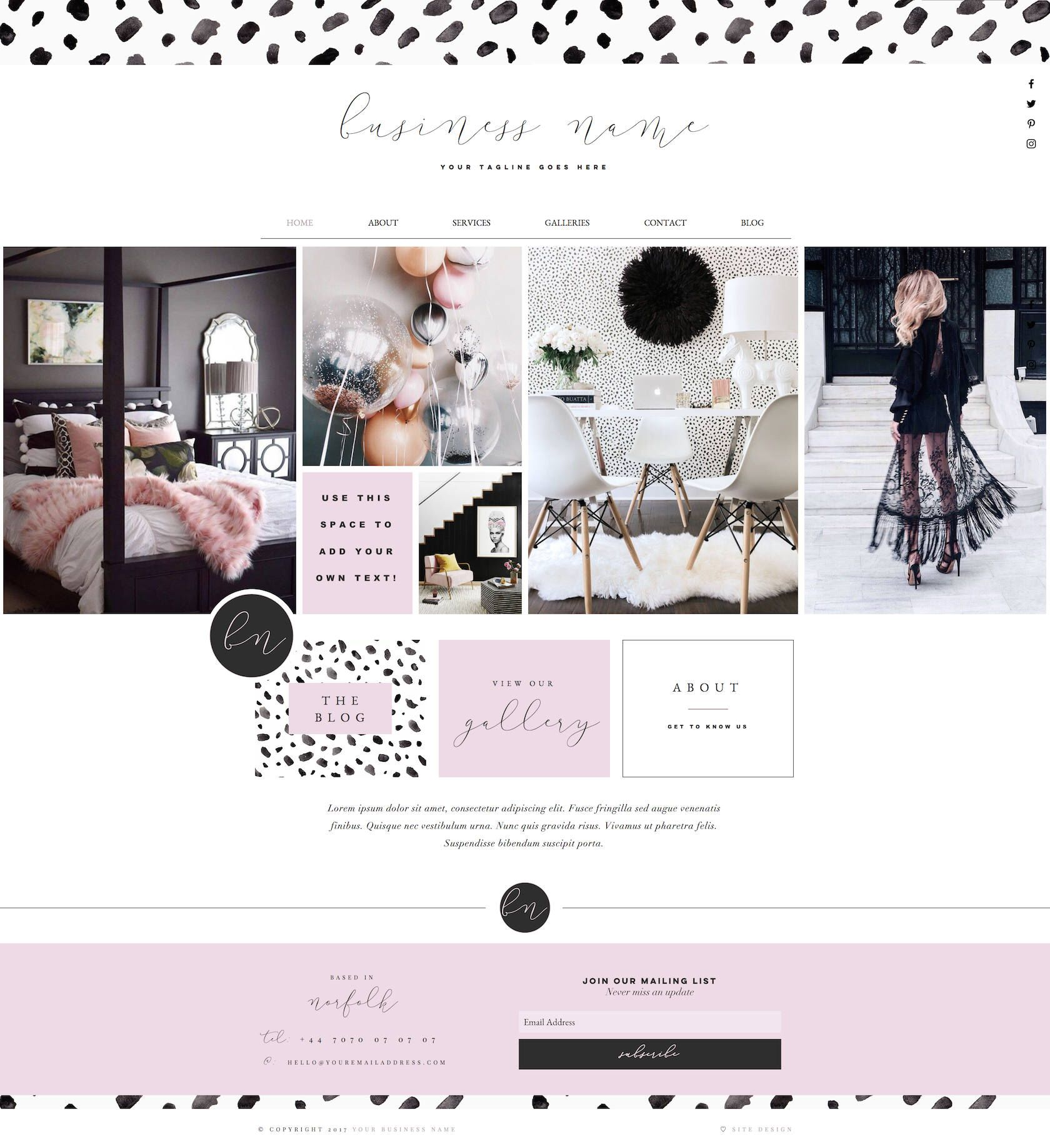 Premade Web Design, Website Template, Wix Template, Blog Theme ...