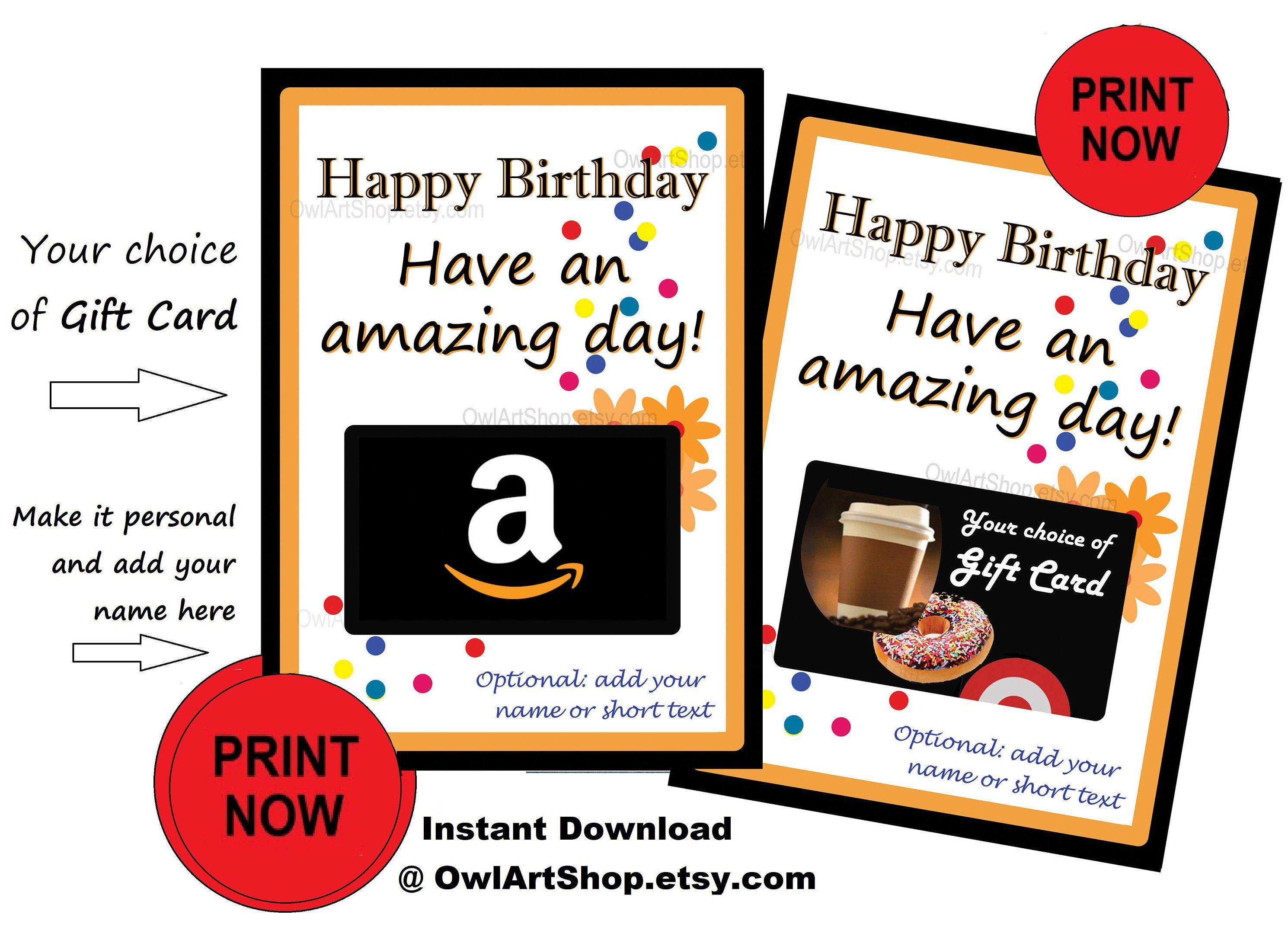Happy Birthday Card Holder Amazon Gift Card Holder Amazing Etsy Birthday Card Holder Printable Gift Cards Gift Card Holder