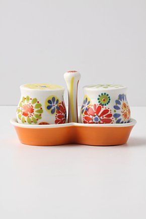 $18 for pure CUTENESS! I will get these this weekend! Salt & Pepper shaker from Anthropologie.com