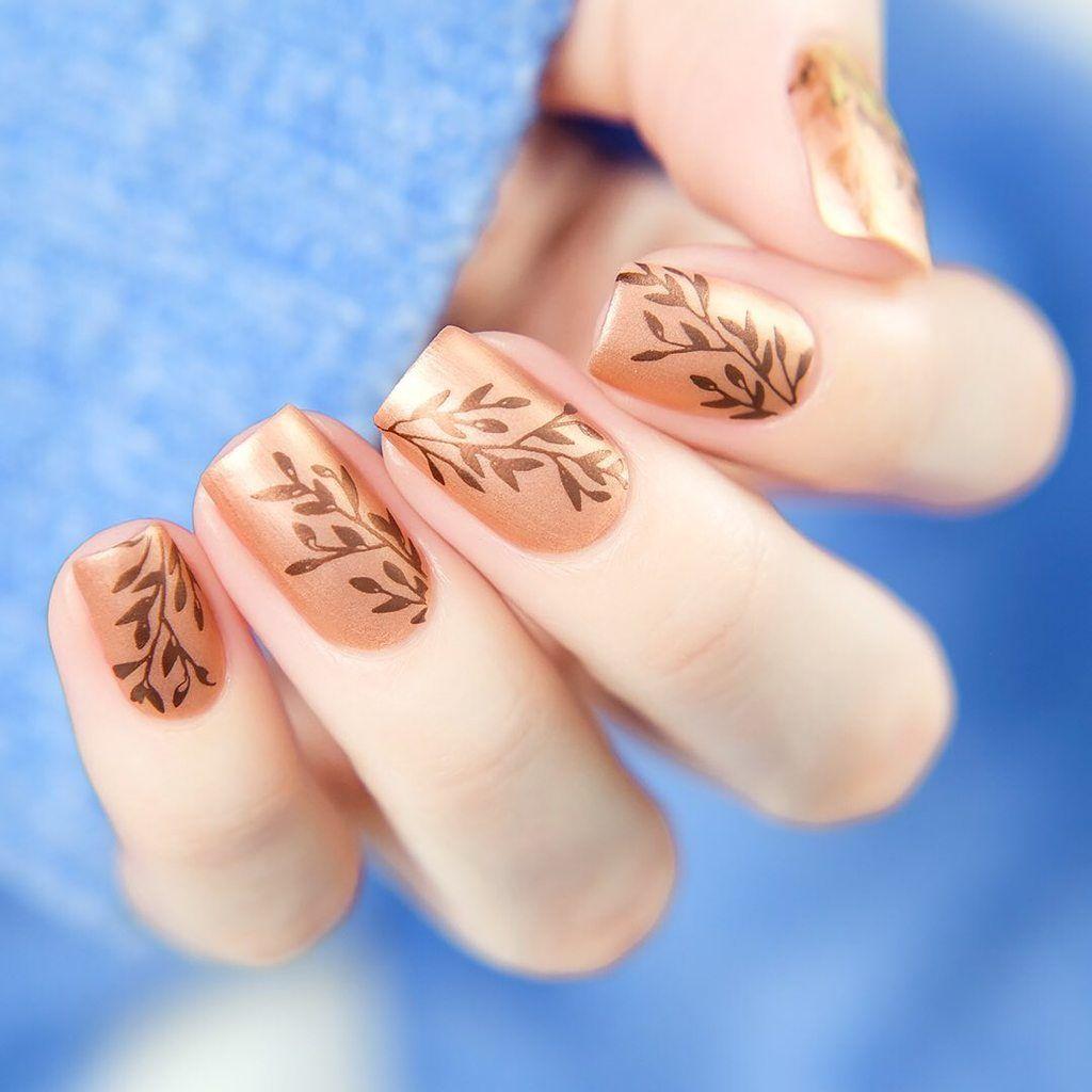 Moyou London Botanical 01 Whats Up Nails Nails Floral Nail Designs Stamping Nail Art