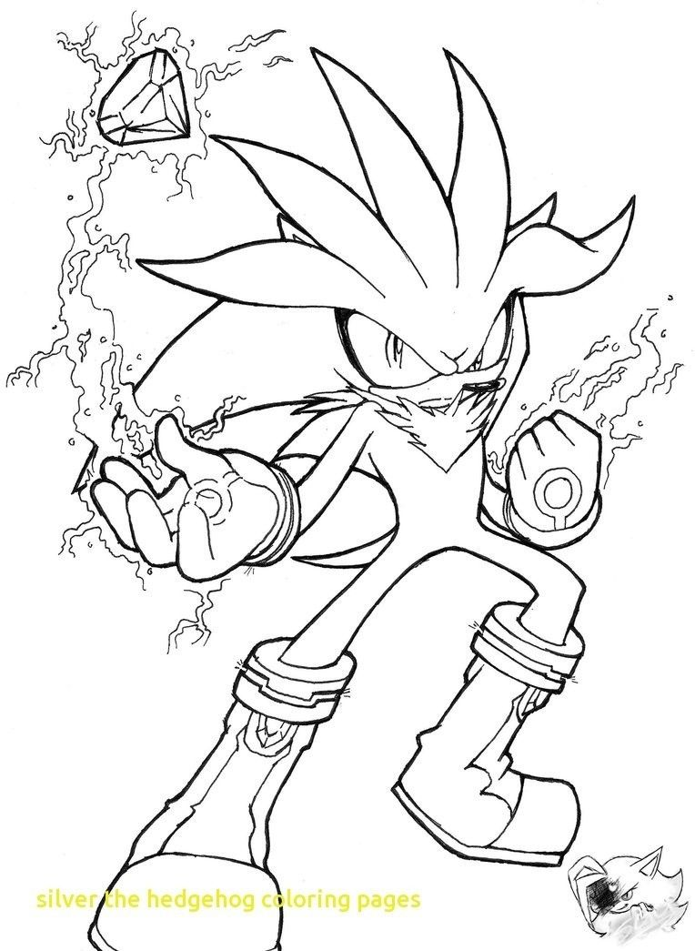 sonic silver coloring pages  hedgehog colors shadow the