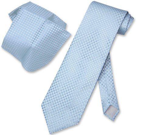 "New Polyester Men/'s 1.5/"" skinny Neck Tie /& hankie set solid formal aqua blue"