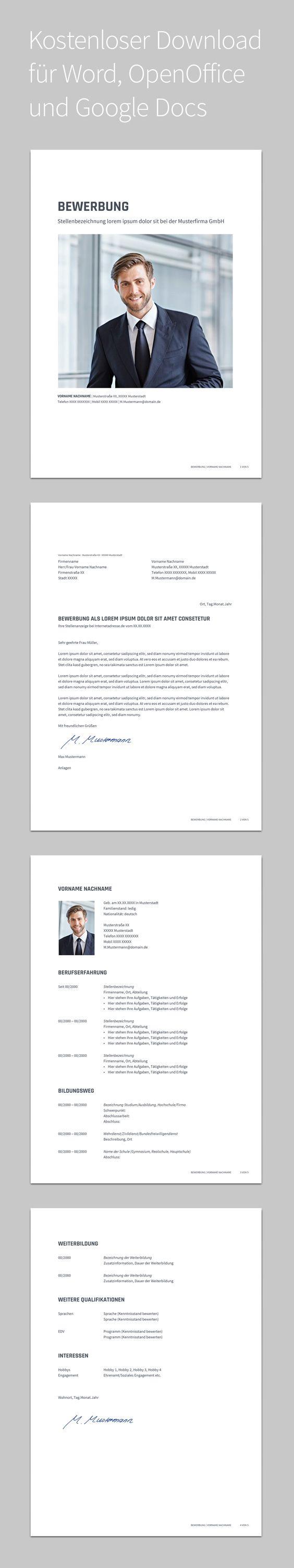 Bewerbung Libero · Design · Vorlage · Schlicht · Kostenloser ...