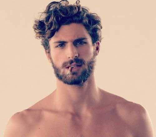 15 Curly Men Hair Men Hairstyles Curly Hair Styles Mens Messy Hairstyles Beard Styles For Men Curly Hair Men