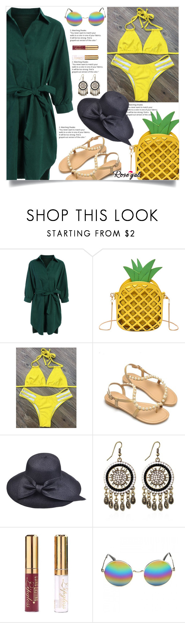 """""""Rosegal    14"""" by nejra-l ❤ liked on Polyvore featuring Summer, dress, promotion and rosegal"""