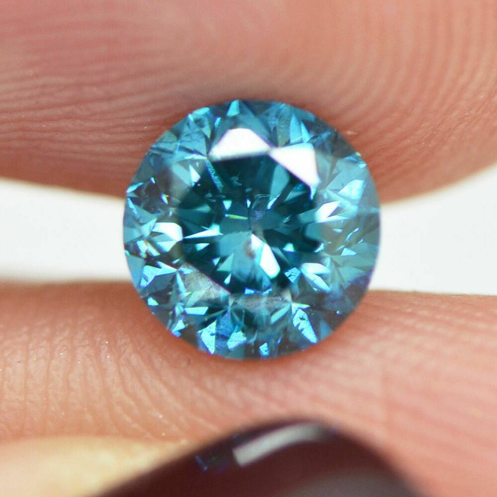 Details About Loose Blue Diamond Round Shaped Fancy Color 1 Carat Si1 Real Natural Enhanced Blue Diamond 1 Carat Diamond