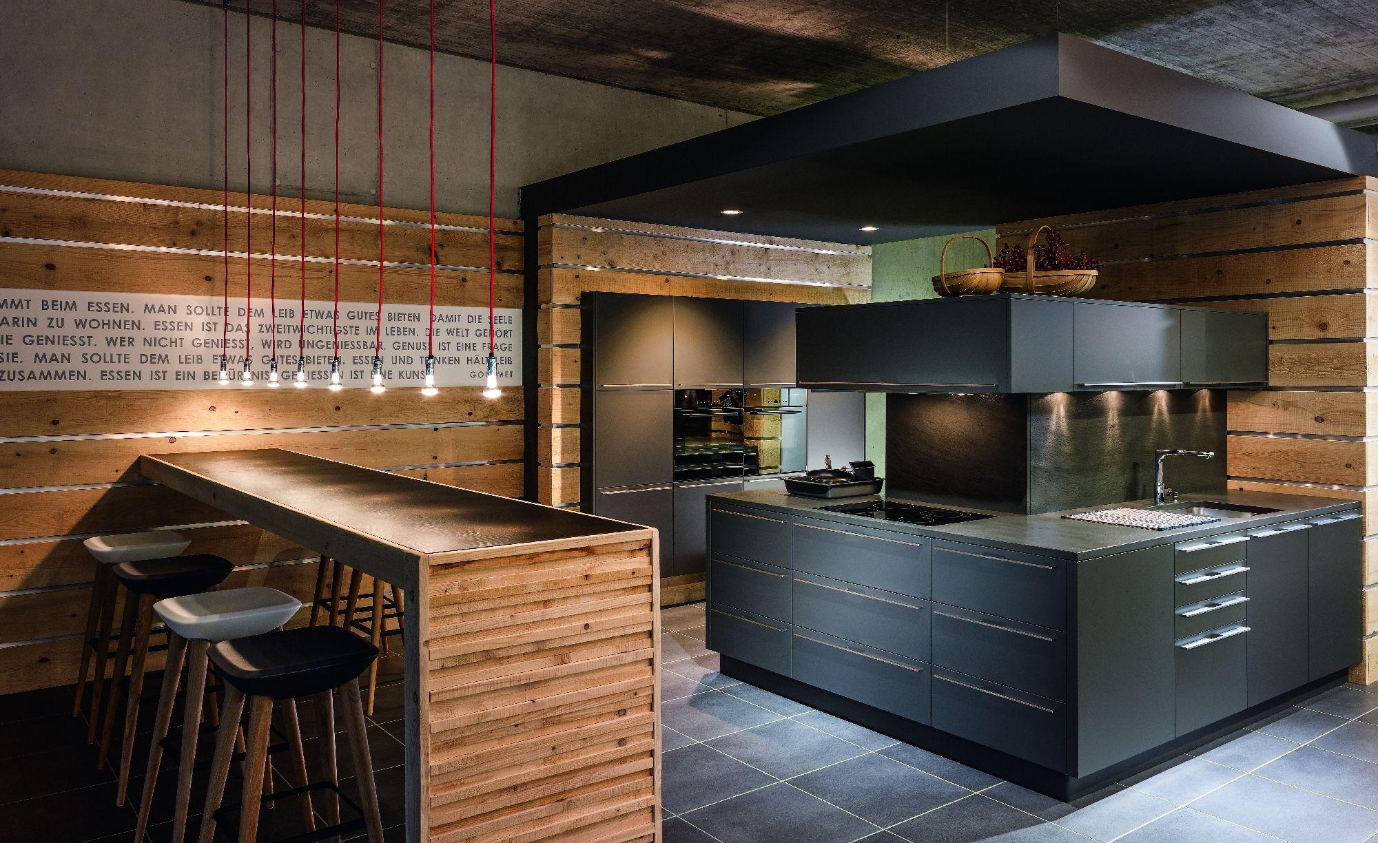 KH System Möbel: Küche im Softlack NCS Design Antrazit Grau | KH ...