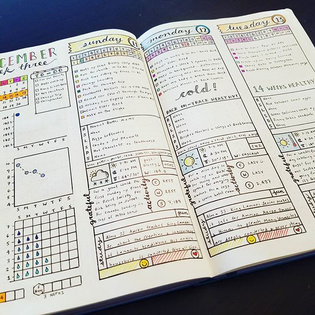Daily Spread - December 2016 Week 3 #bujojunkies #bujo # ...