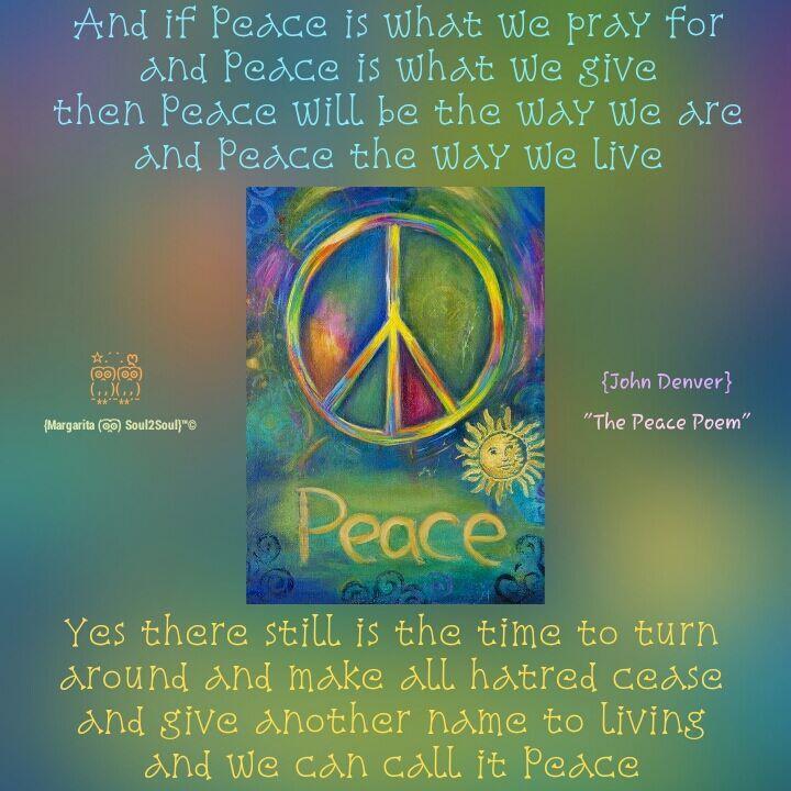 living peace dear john