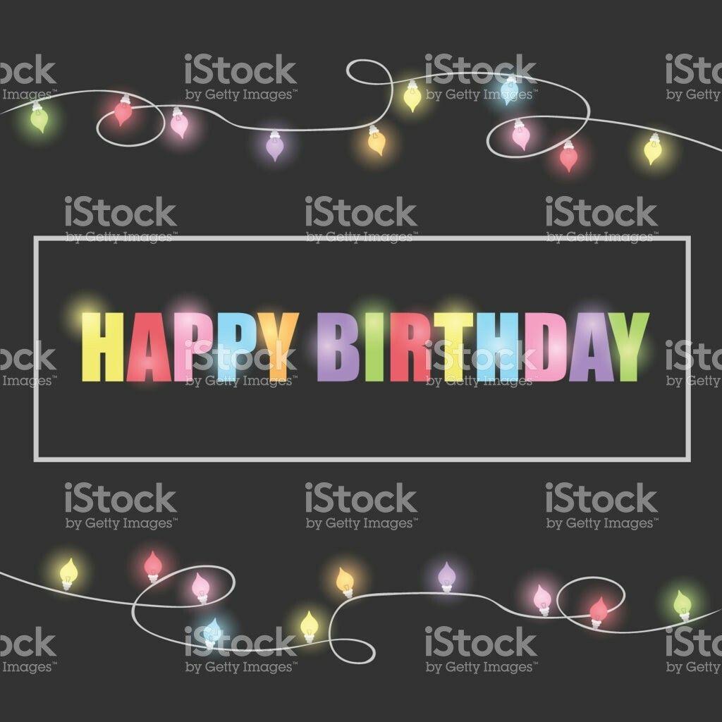 Birthday greeting card design illustration istock