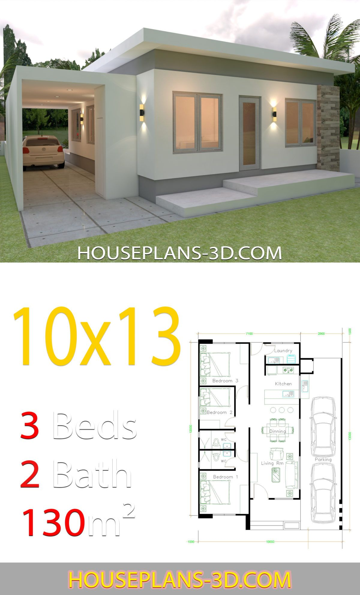 Amazing Low Budget Modern 3 Bedroom House Design Beauty 70 For Interior With In Three Bedroom House Plan Two Bedroom House Design House Interior Design Bedroom