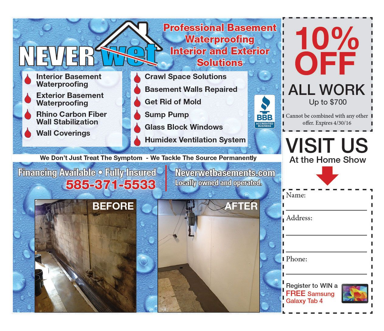Never Wet Will Help You Waterproof Your Basement For Winter! Prevent  Flooding And Leaks With