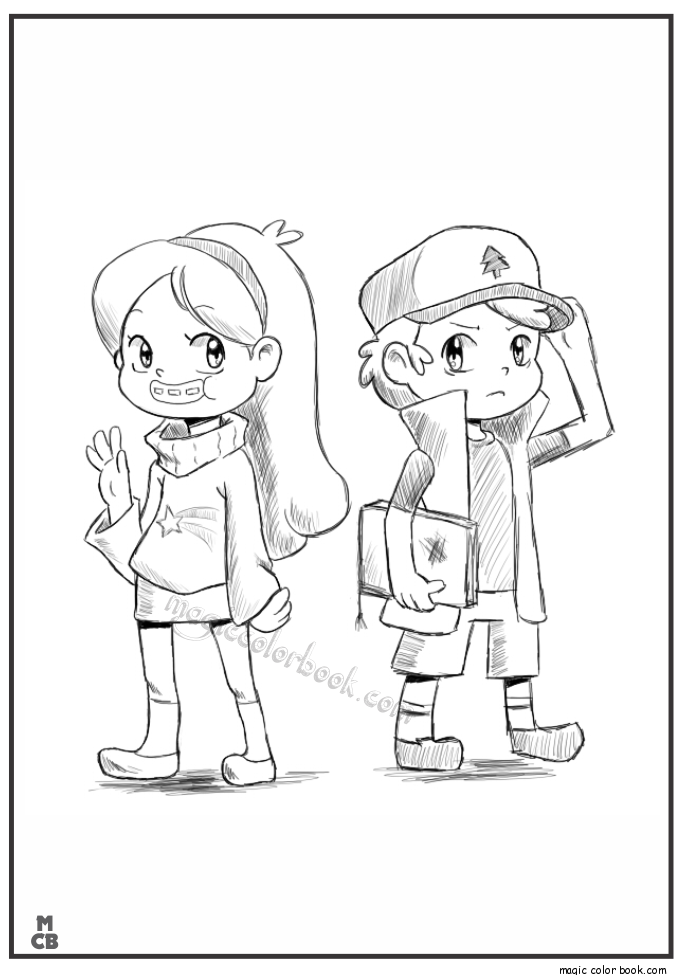 Gravity Falls Coloring Pages 05 Crafting With Kaylee Fall