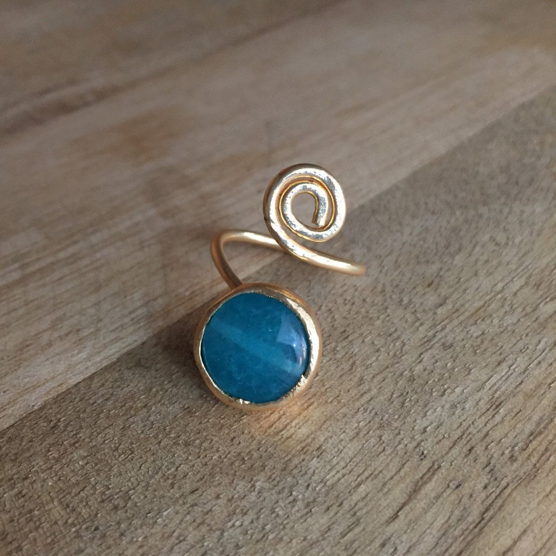 Bague Calcédoine Bleue by HurremSultanJewelry on Etsy