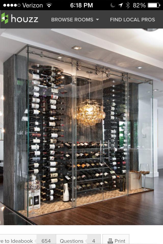 Design First Interiors Glass Enclosed Wine Fridge Wall Wijn