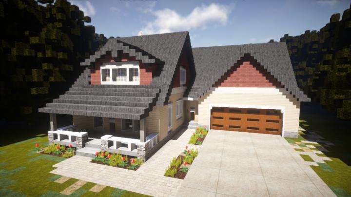 Minecraft Modern House Garage 4