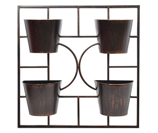 Wilson Fisher Black Square 4 P*T Wall Metal Planter In 400 x 300