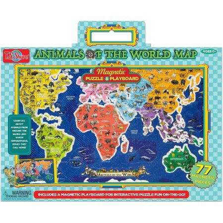 T.S. Shure Animals of the World Map Magnetic Playboard and ...