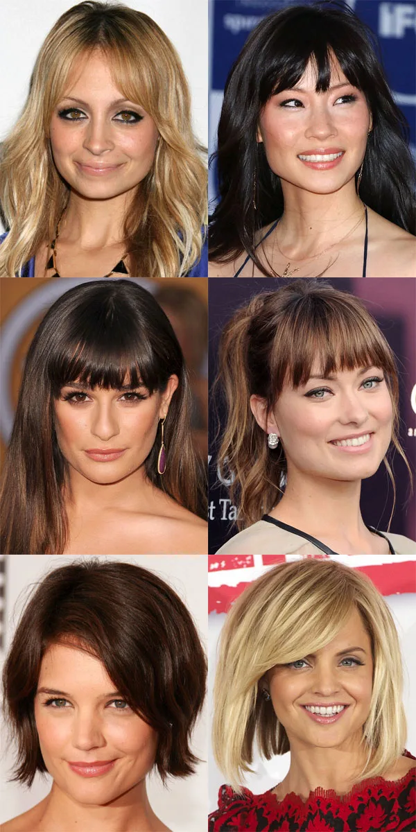 The Best And Worst Bangs For Square Face Shapes Square Face Hairstyles Face Shape Hairstyles Haircut For Square Face