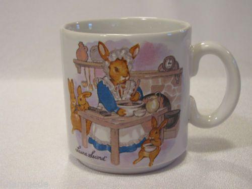 Vintage Laura Secord Porcelain China Child'S CUP MUG Rabbits Easter Bunny | eBay
