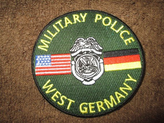 Armymilitarypolicewestgermanypatch Military Police