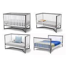 Delta Tribeca Clic 4 In 1 Convertible Crib White Gray