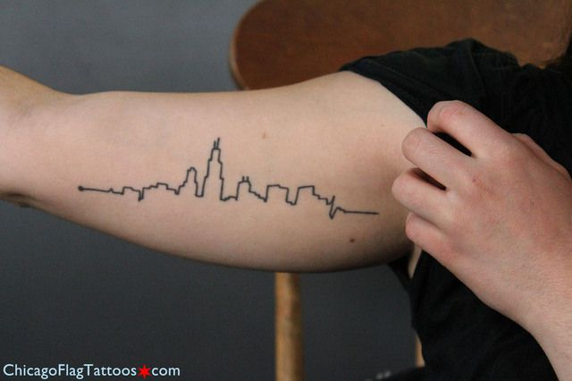Chicago Skyline Tattoo I Might Actually Get This One