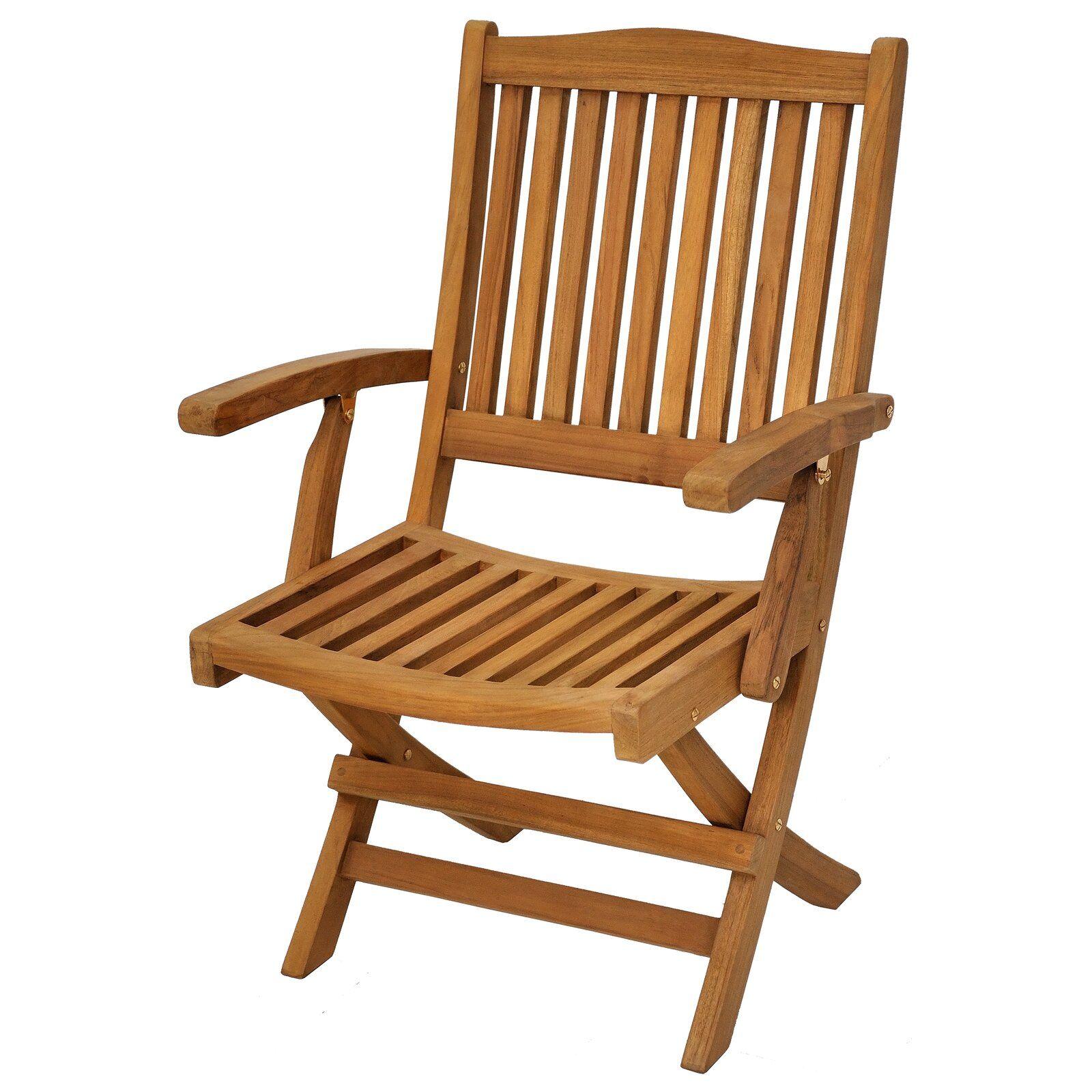 Casual Elements Trinidad Folding Teak Patio Dining Chair ...