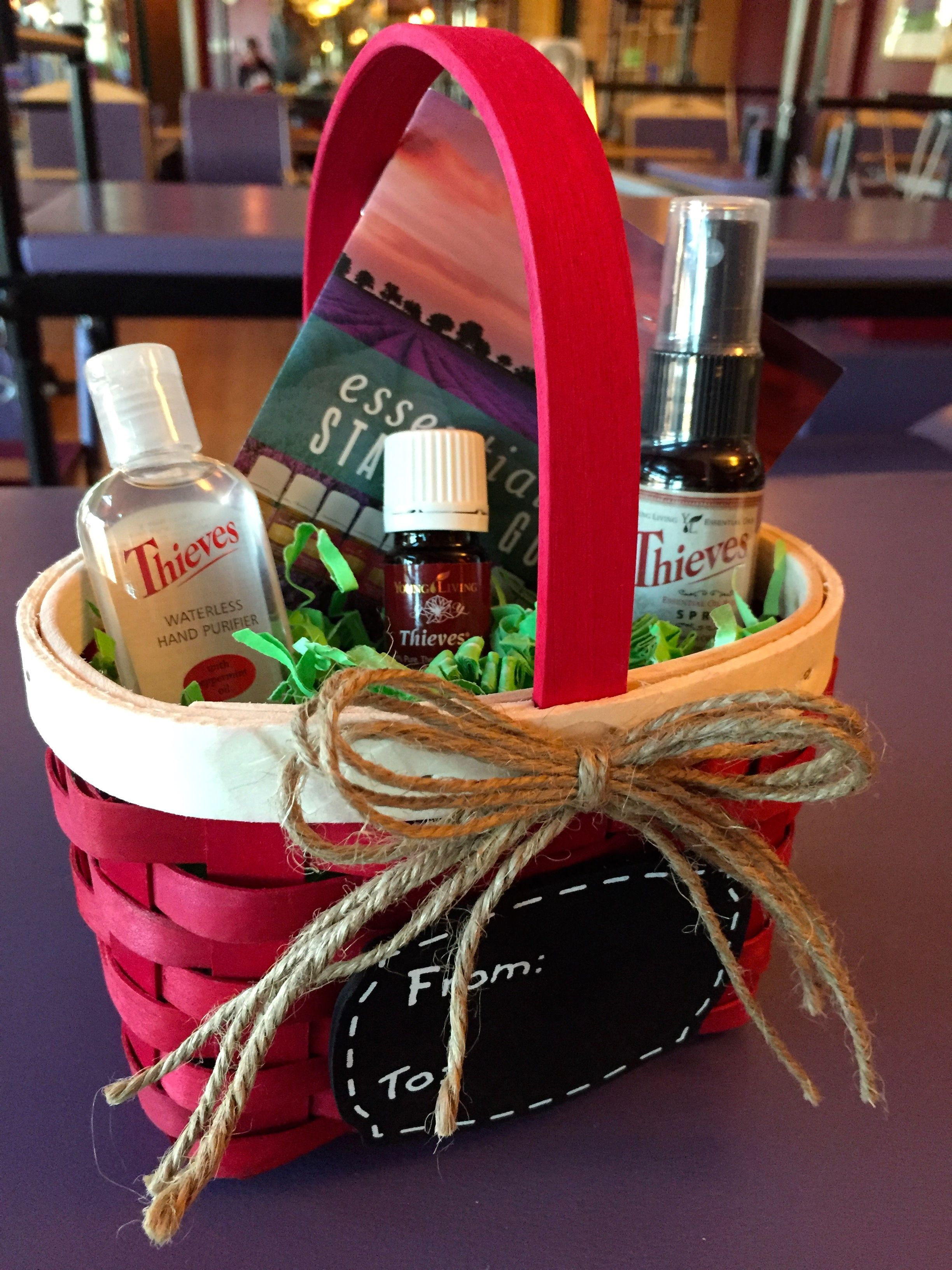 Thieves christmas gift basket health wellness with essential thieves christmas gift basket negle Image collections
