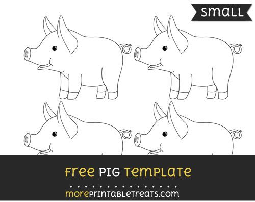 free pig template small shapes and templates printables