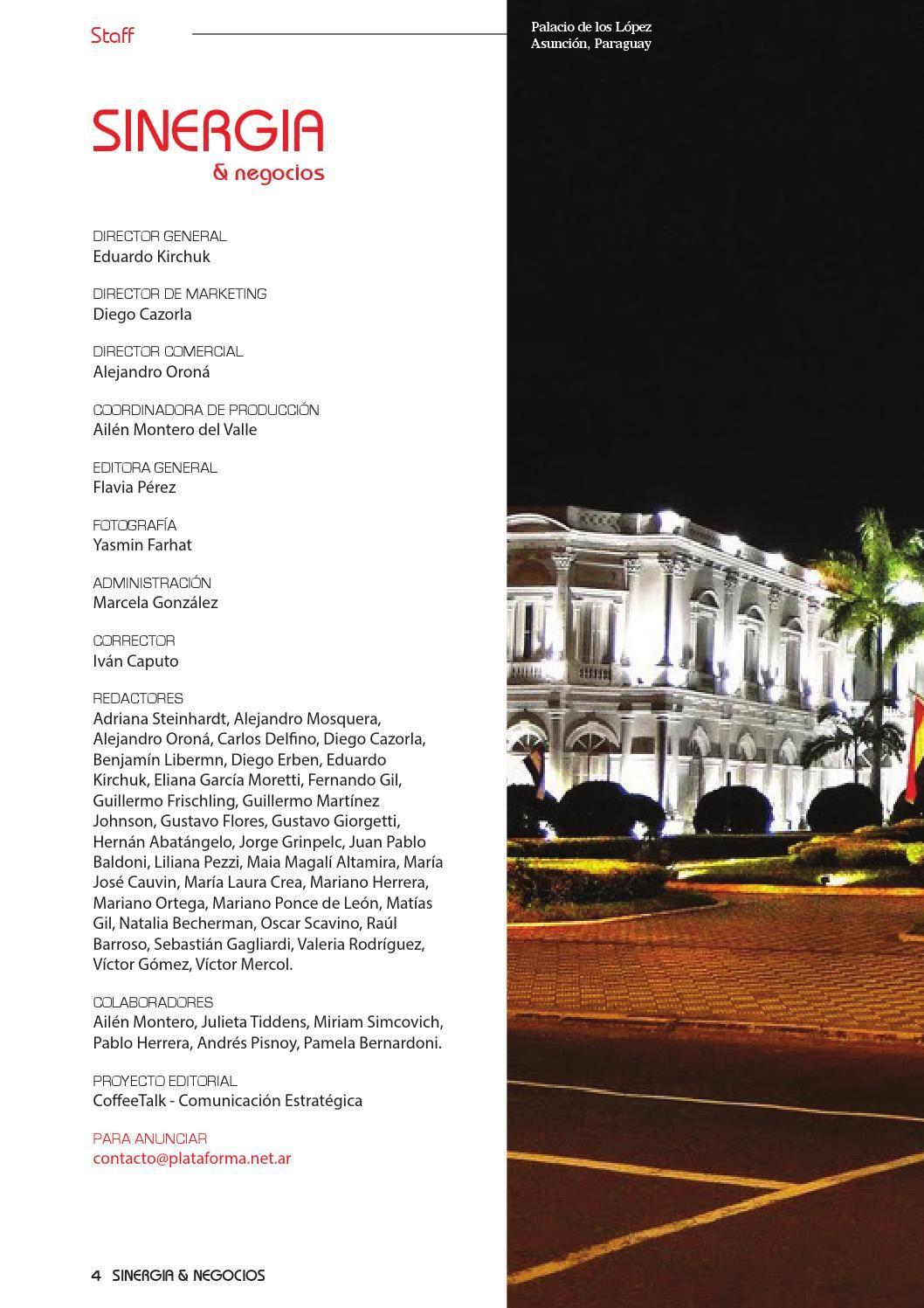 Revista Sinergia 2014 por Red Plataforma